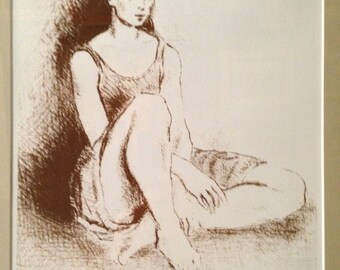 "Moses Soyer Original Lithograph ""ballet Dancer""  w/Certificate"