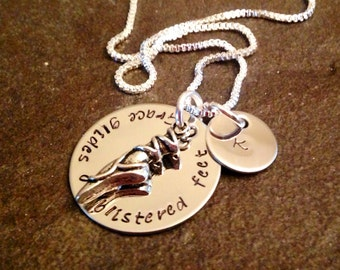 Hand stamped personalized ballerina necklace ballet pointe