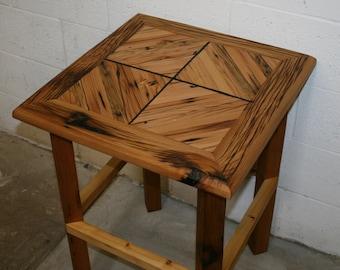 Reclaimed Cedar Side Table 22x22