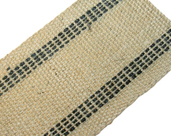 "Jute Webbing Heavy-Duty Black 3 1/2"" wide  12 Yds"