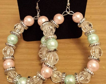 Love and Hip Hop and Basketball wives inspired design with mint and pink beads