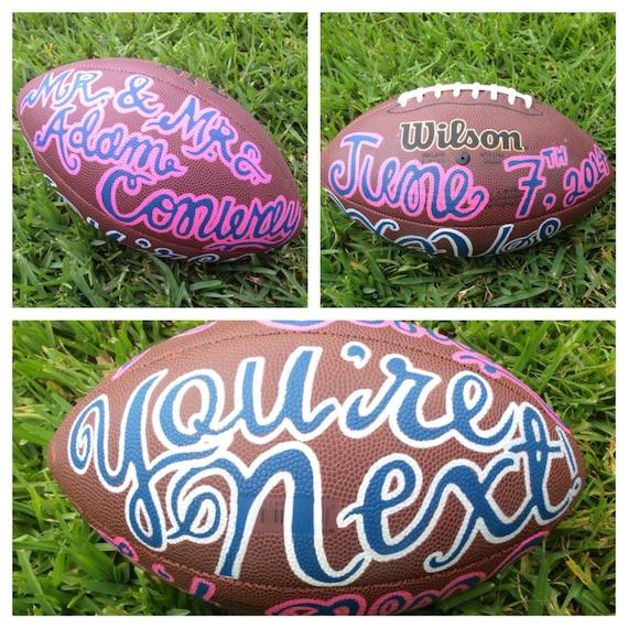 Funny Wedding Garters: Fun Customized Wedding Football For Garter Toss By