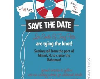 Cruise Wedding Save the Date Customizable Printable