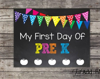 Smart image intended for first day of pre k printable sign