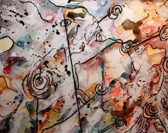 Original 10x14 Mixed Media Painting