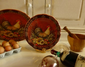 La Provence Rooster Dollhouse Plate