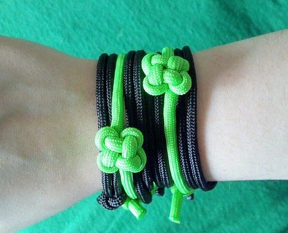 St Patricks Day Shamrock Adjustable Paracord Bracelets