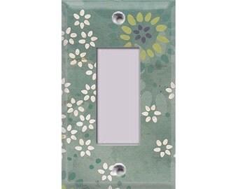Boardwalk Collection - Flowers Rocker/GFI Cover