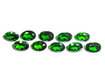 Chrome Diopside Faceted Cut Russia Yakutia