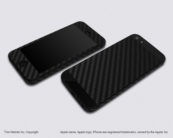 for apple iphone 5 model a1428 a1429 black carbon fiber. Black Bedroom Furniture Sets. Home Design Ideas