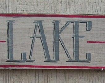 Rustic Lake Sign