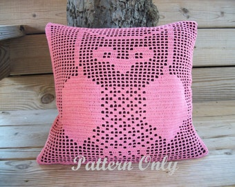 Filet Crochet Owl Pillow Pattern