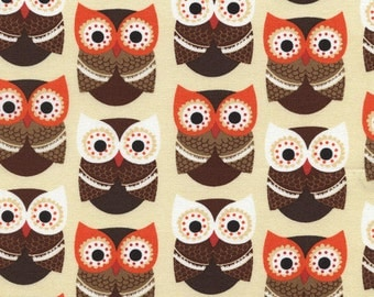 Owls  by Timeless Treasures  - 1 yard - One yard increments