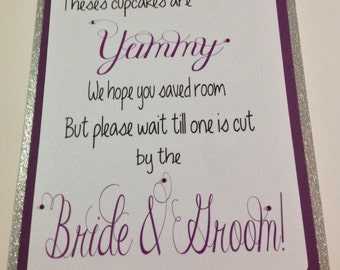 Cake Table Wedding Sign, Candy Buffet, Welcome Sign, Wedding Sign, Cupcakes