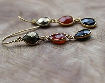 Goldfilled Gem Earrings