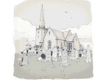 Bangor Abbey - limited Edition Print