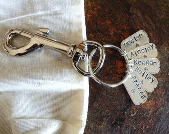 Personalized Key Chain with Names.Custom Key Chain.Swivel Snap Hook. Personalized.Grandparent Gift.Gift for Mom or Dad.Unique Cool.Got Keys.