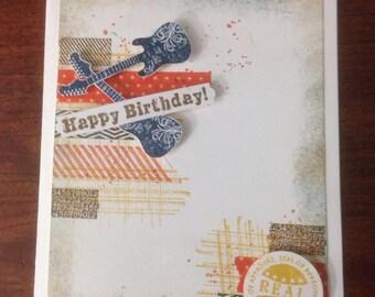 Rocker grunge Birthday greeting card