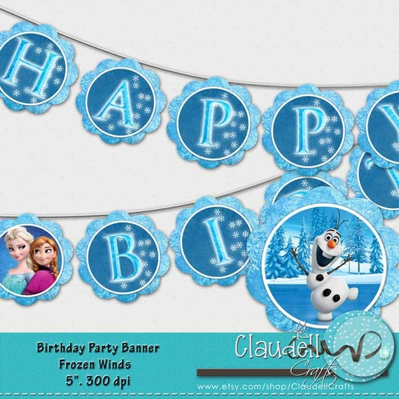 Frozen Winds Inspired Printable Party Collection Package