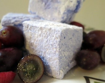 Grape Marshmallows - 1 dozen Gourmet homemade marshmallows