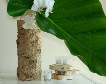birch bark vases, wedding flower vases centerpieces planter rustic chic wedding tall birch bark vases