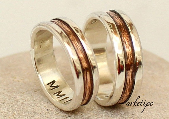 wedding ring set personalized promise rings made of sterling