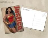 Wonder Woman What If Postcard
