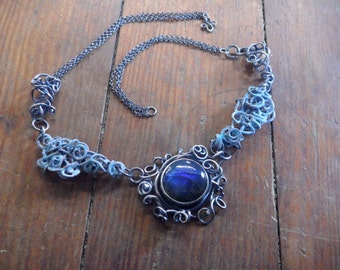 Tempest Blue Labradorite Necklace
