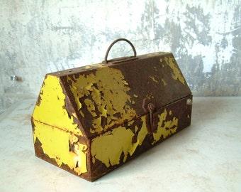 Vintage Rustic Industrial Toolbox