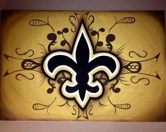 New Orleans Saints 18x24 painting