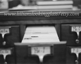 Antique Card Catalog photo print--Between Happy and Iconic