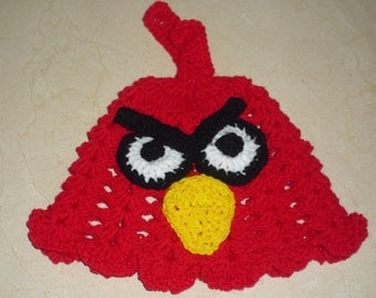 crochet Angry bird hat pattern for kids