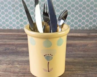 Hand-painted utensil holder Florence