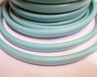 "9"" Regaliz Turquoise Licorice Leather Cord, Bracelet jewelry supplies 10x6mm oval licorice Kallyco on Etsy"