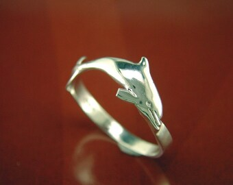 Ring with Dolphin - 100% Sterling Silver