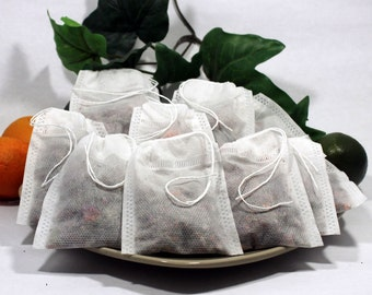 "Empty Woven Style Draw String Tea Bags 2.75"" x 3.5"" 70mm x 90mm (50 pack)"