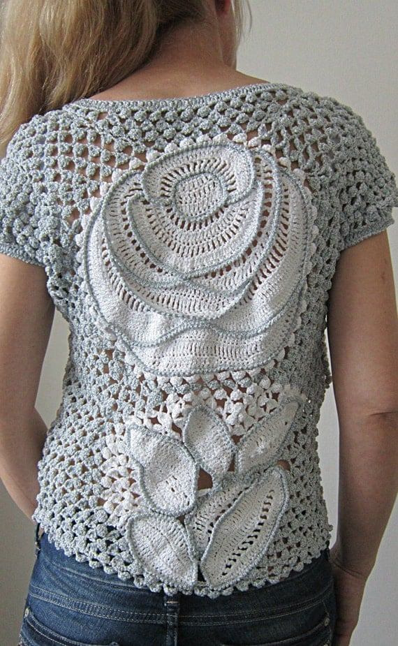 Freeform Crochet Blouse 33