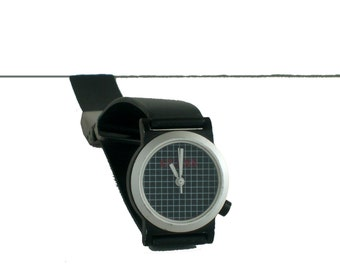 Vintage 80s Watch Guess New Wave Minimal Grid