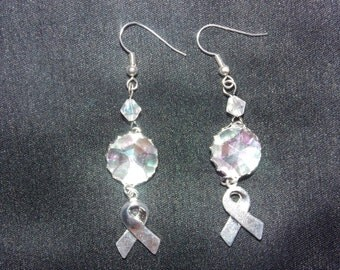 Rhinestone and Ribbon Earrings