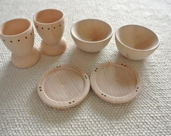 Waldorf Inspired Kitchen Cups Bowls Plates
