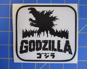 Godzilla Decal/Sticker 4X4 - Any Color