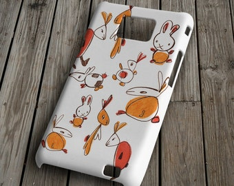 Rabbits - colorful - Samsung Galaxy S2 Case - Samsung Galaxy S2 Cover - Plastic Samsung Galaxy S2 Case