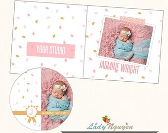 Instant Download CD/DVD Label and cover templates - CD033