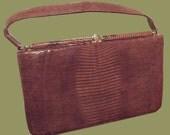 Vintage Brown Leather Pur...
