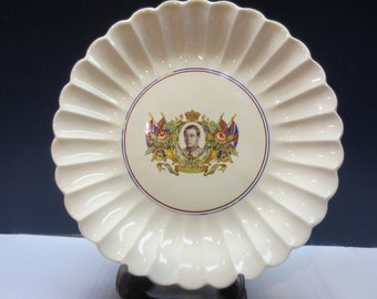 Very Rare 1937 King Edward VIII Coronation Plate by Sovereign Potters Canada
