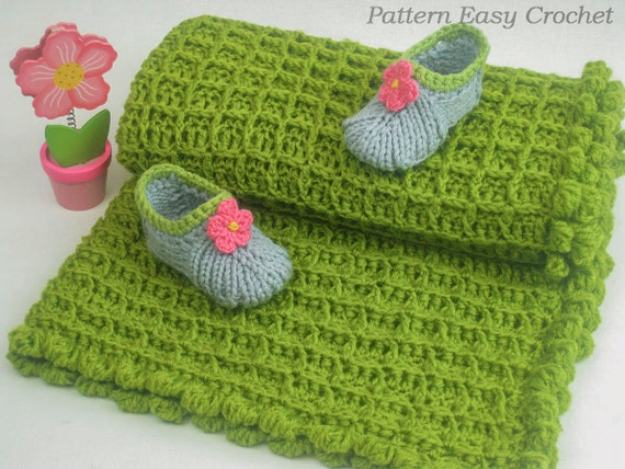 Crochet pattern baby blanket quick and easy pattern by ...