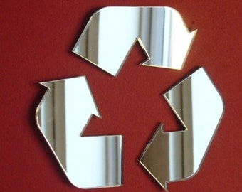 Recycle Sign Mirror  - 5 Sizes  Available