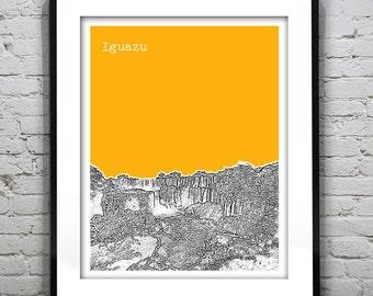 Iguazu Argentina Skyline Poster Art Print