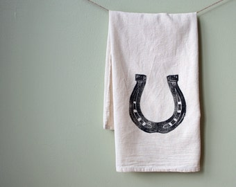 Horseshoe Flour Sack Towel Cotton Equestrian