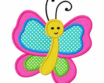 Butterfly Applique Machine Embroidery Design NO:0137